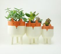 Cute Fox Planters: Imagine these tucked alongside cozy decorations in a Scandinavian-inspired home! Each one is handmade from start to finish.