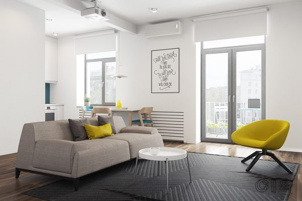 Interior And Furniture Designs 3 Modern Style Apartments Under 50 Square Meters Includes Floor Plans