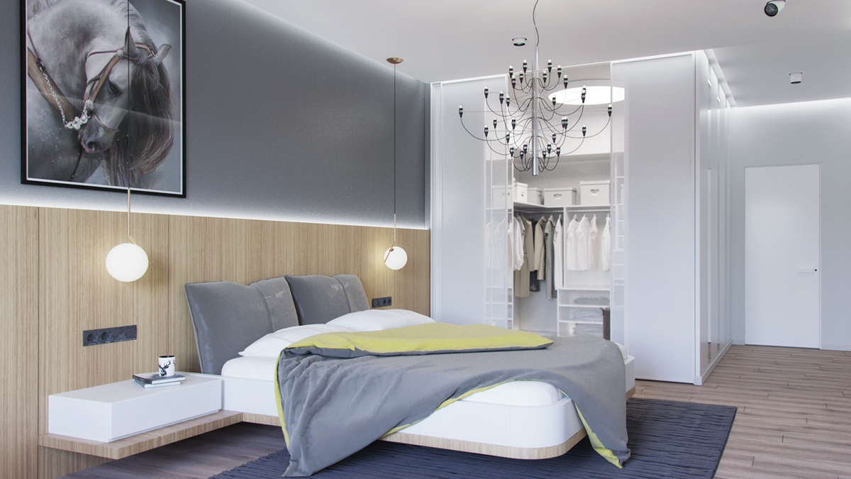 Grey bedrooms ideas to rock a great grey theme for Grey minimalist bedroom