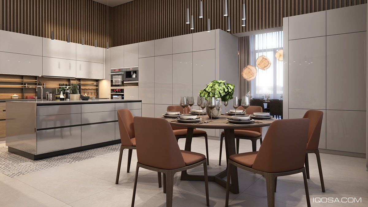 Luxury Eat In Kitchen Design - A sophisticated home with natural themes outside of kiev