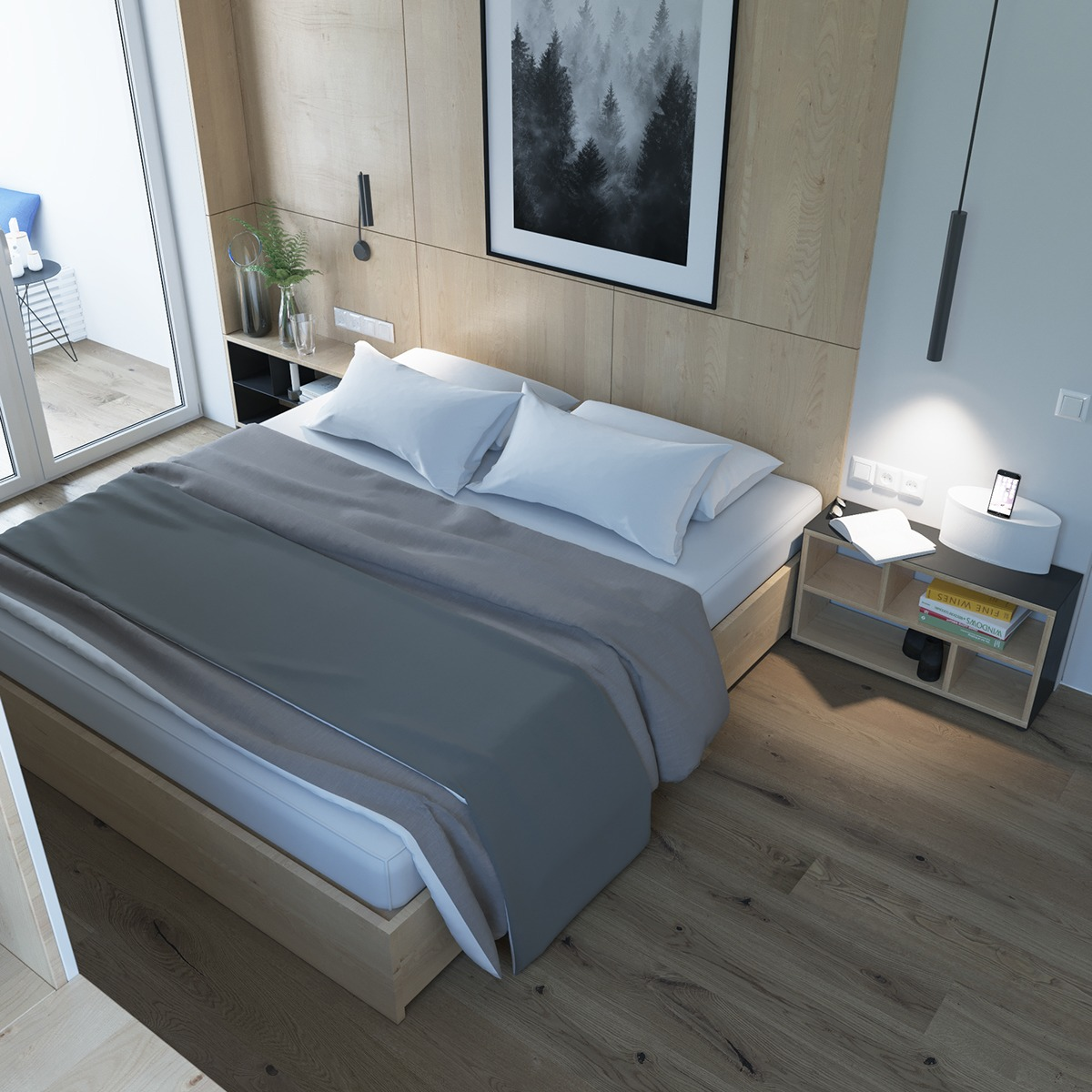 Simple Bedroom White Sheets Gray Bedding - 2 stunningly beautiful homes decorated in modern scandinavian style