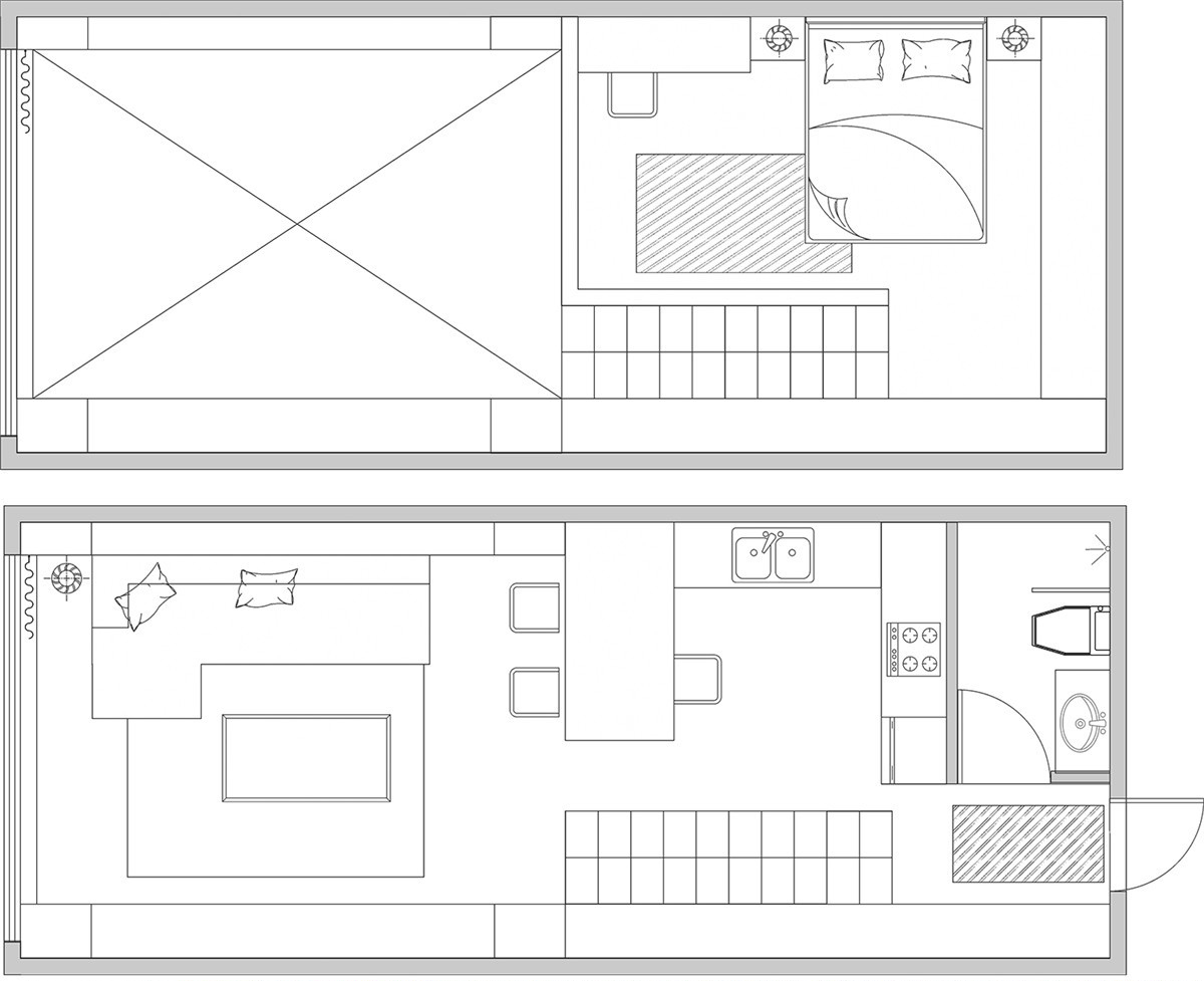 Small loft floor plans for Small house floor plans with loft
