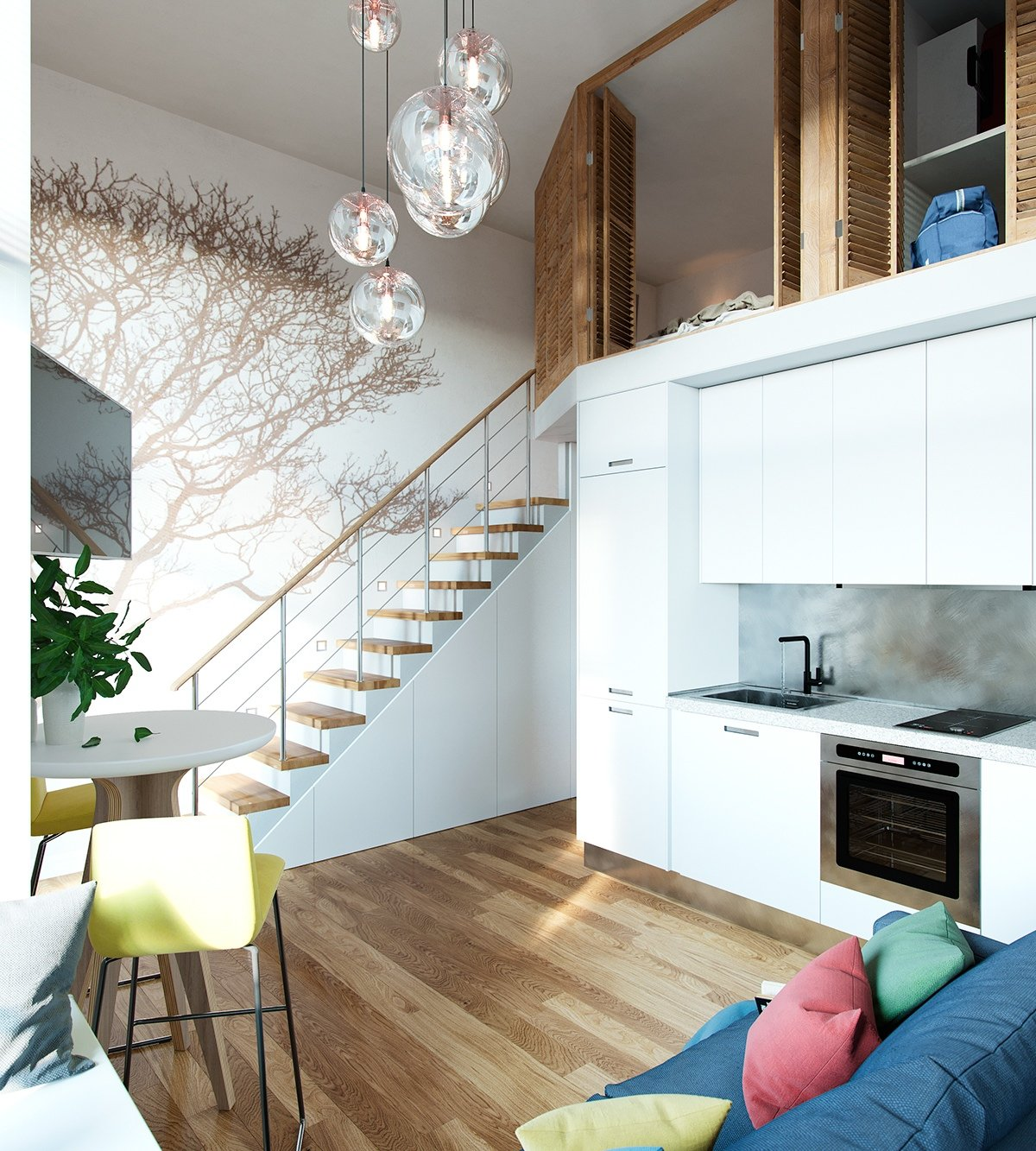 small homes that use lofts to gain more floor space - Design For Small Homes