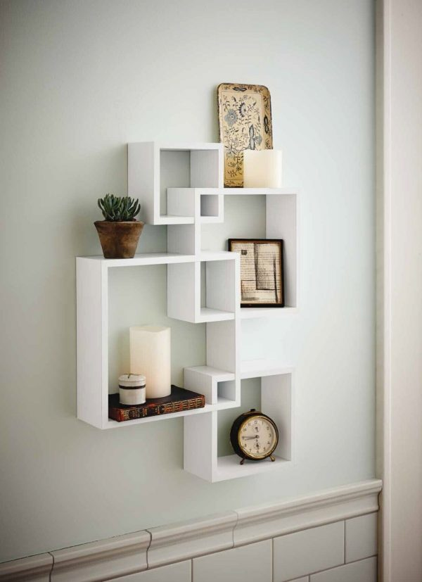 31 unique wall shelves that make storage look beautiful rh home designing com shelves on concrete walls shelves on plaster walls