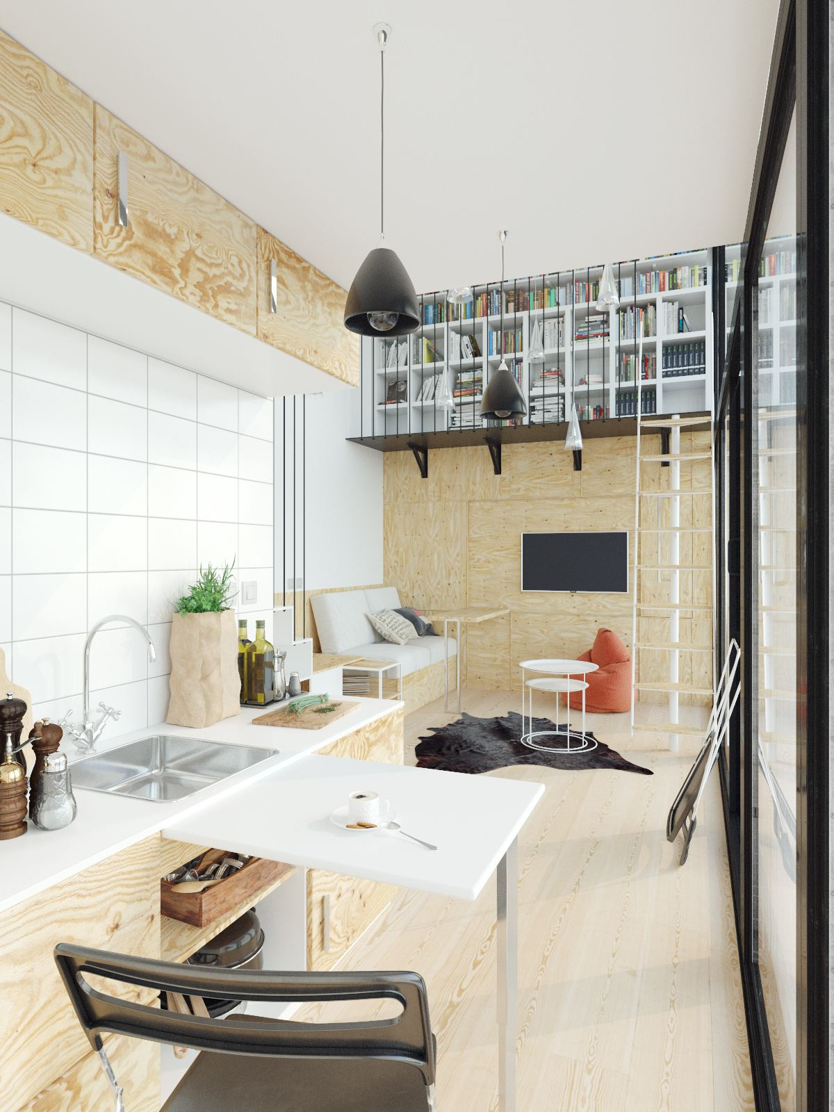 small homes that use lofts to gain more floor space