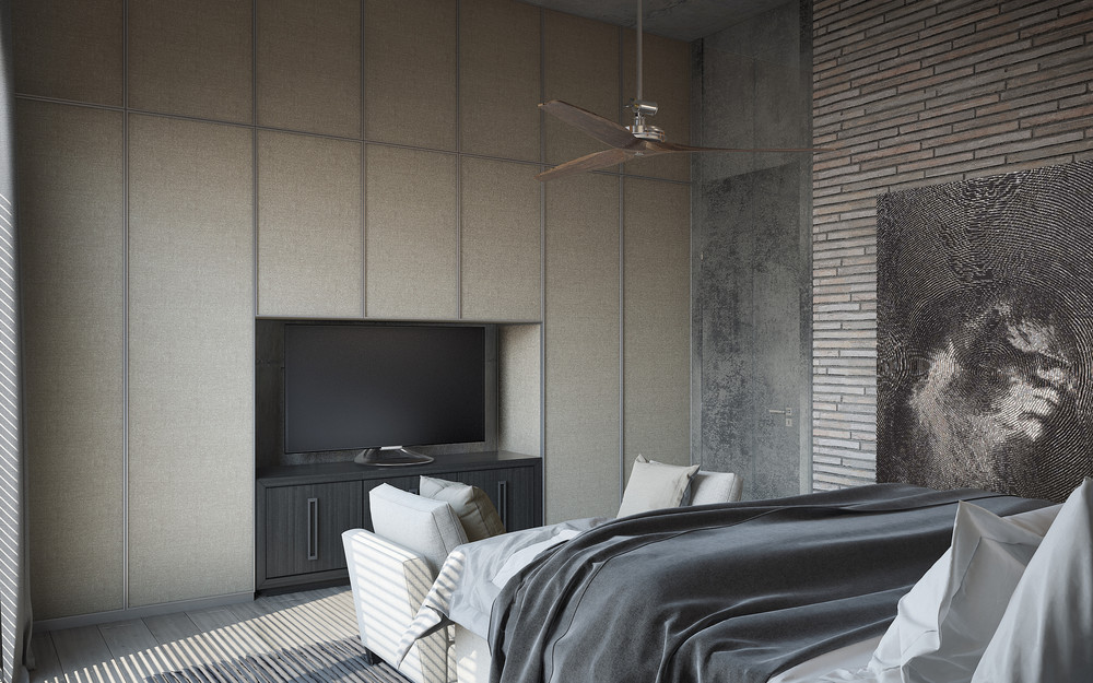 Wall Closets Tv Storage - 3 concrete lofts with wide open floor plans