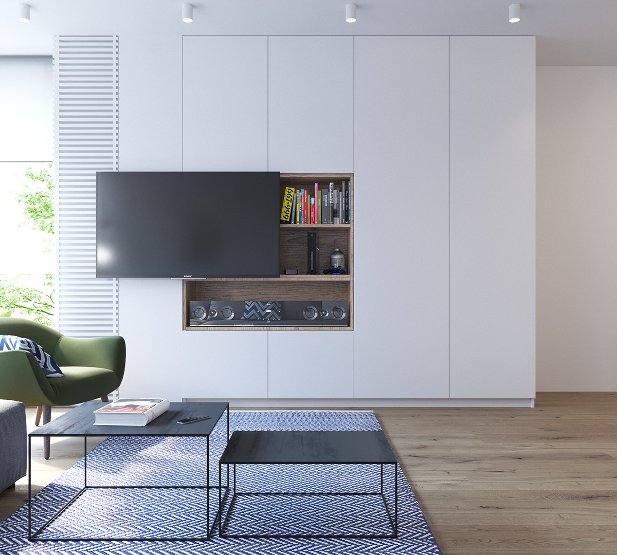 Wall Mount Tv Wooden Shelves Bult In - 2 stunningly beautiful homes decorated in modern scandinavian style