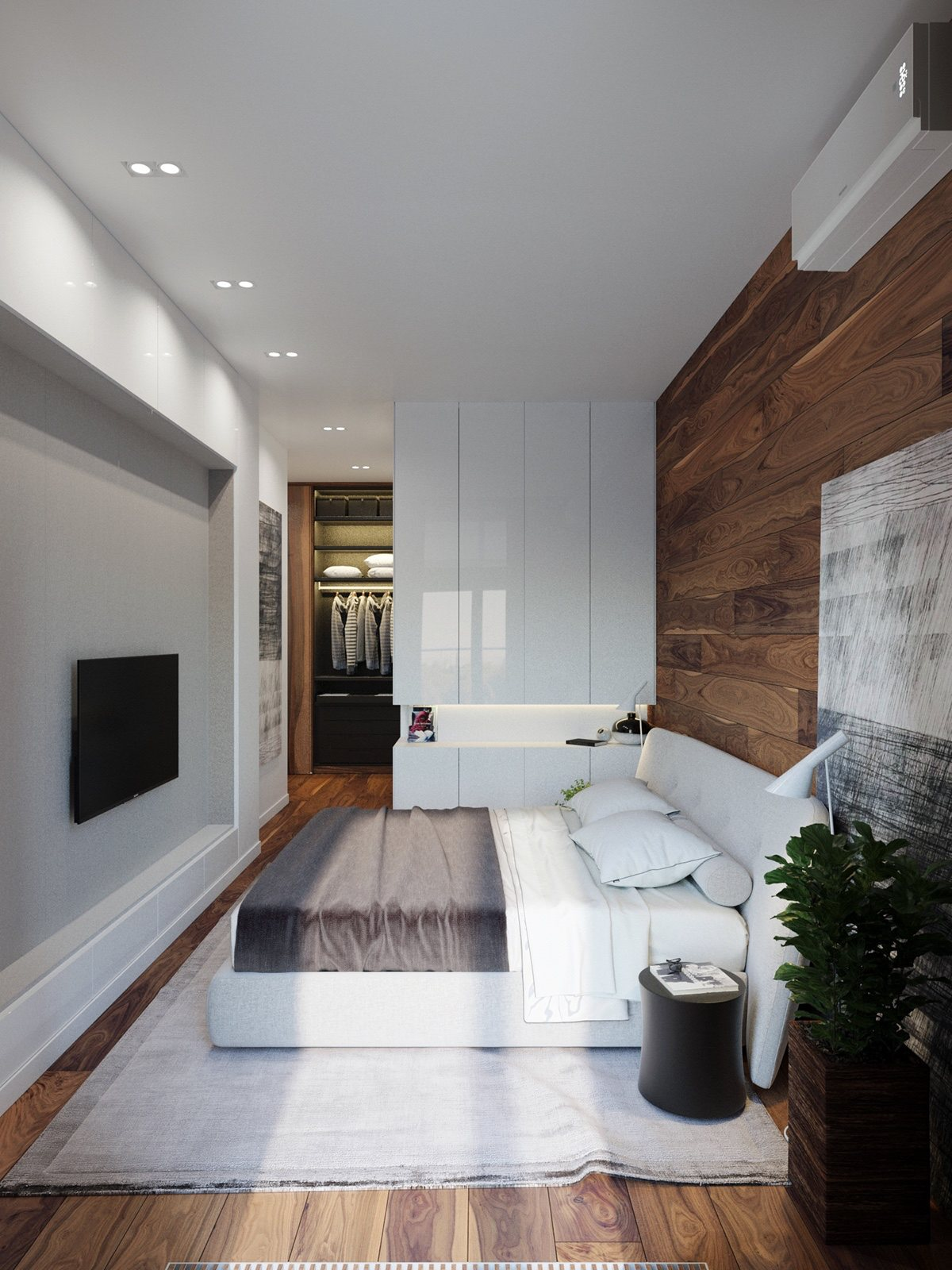 Rustic beauty in an inner city apartment Best feature walls