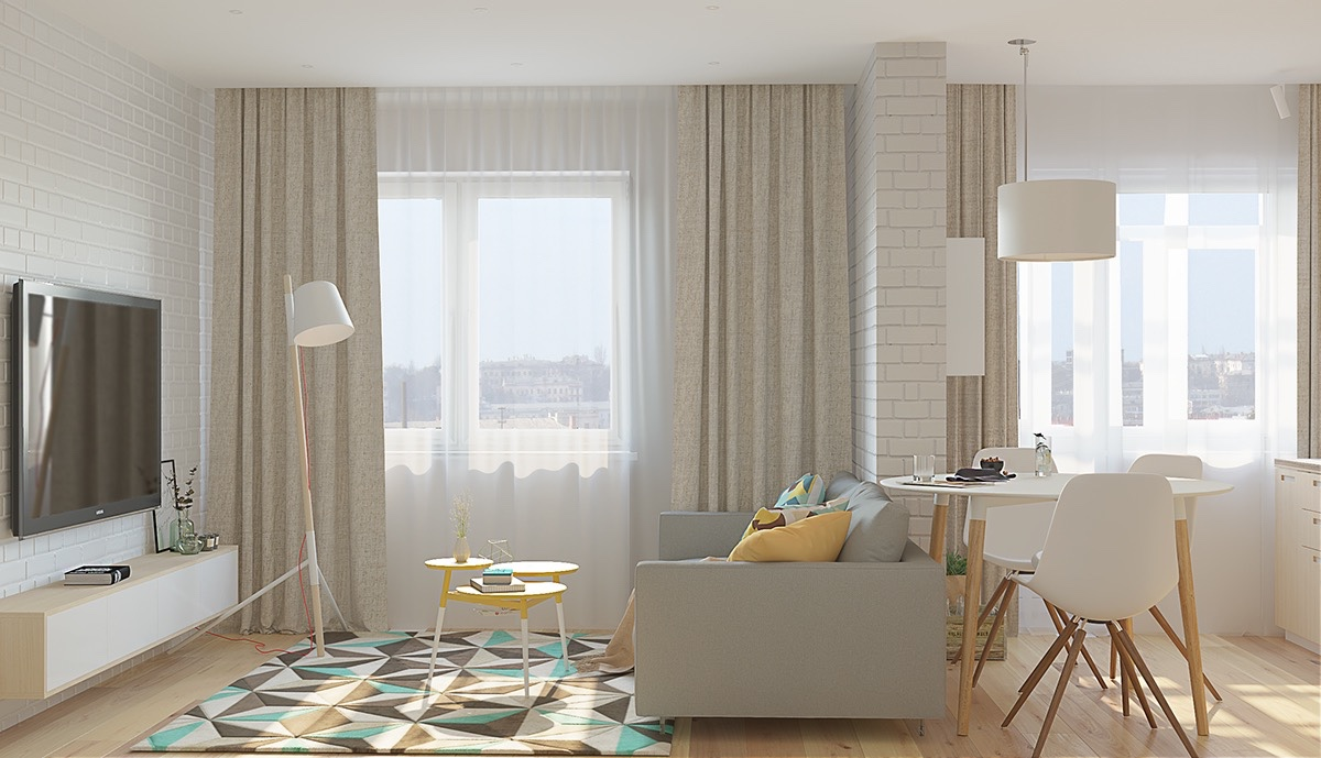 4 Single Studio Apartment Designs Under 100 Square Metres