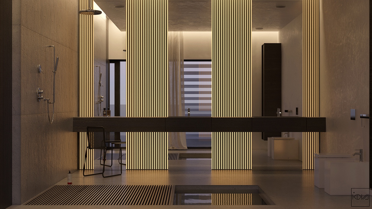slatted-wood-partition-bathroom-low-lying-illumination-spacious-granite-surfaces