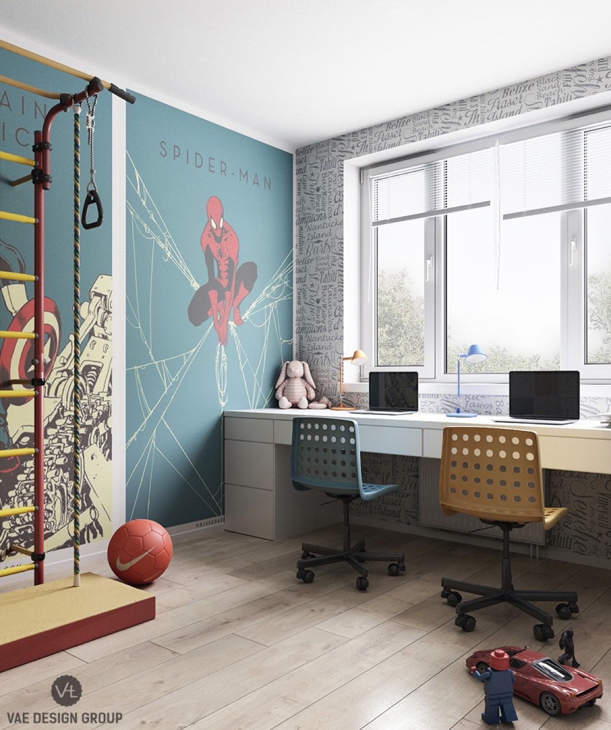 spiderman-workstation-lego-themed-chairs-funky-workspace