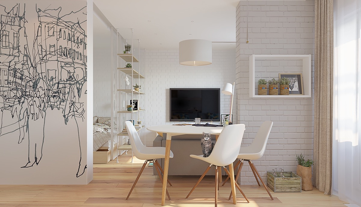 textured-white-walls-abstract-art-on-white-sketches-white-brick-industrialist-living-space