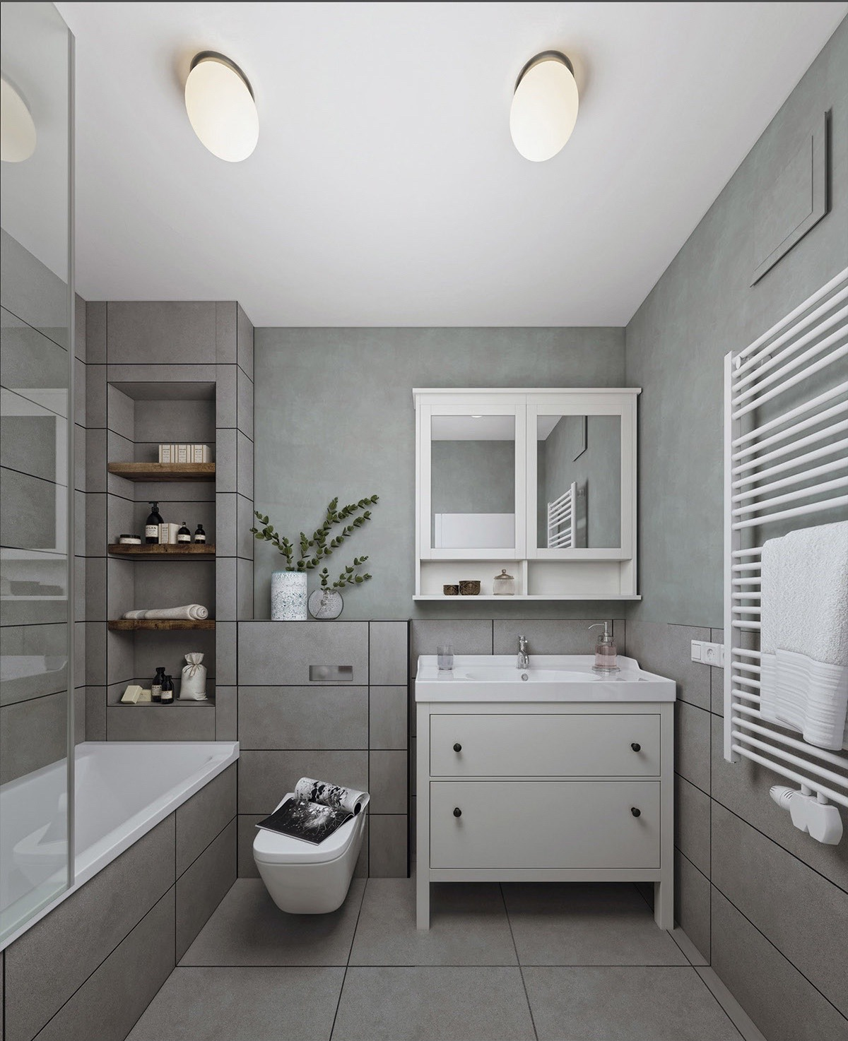 square bathroom designs
