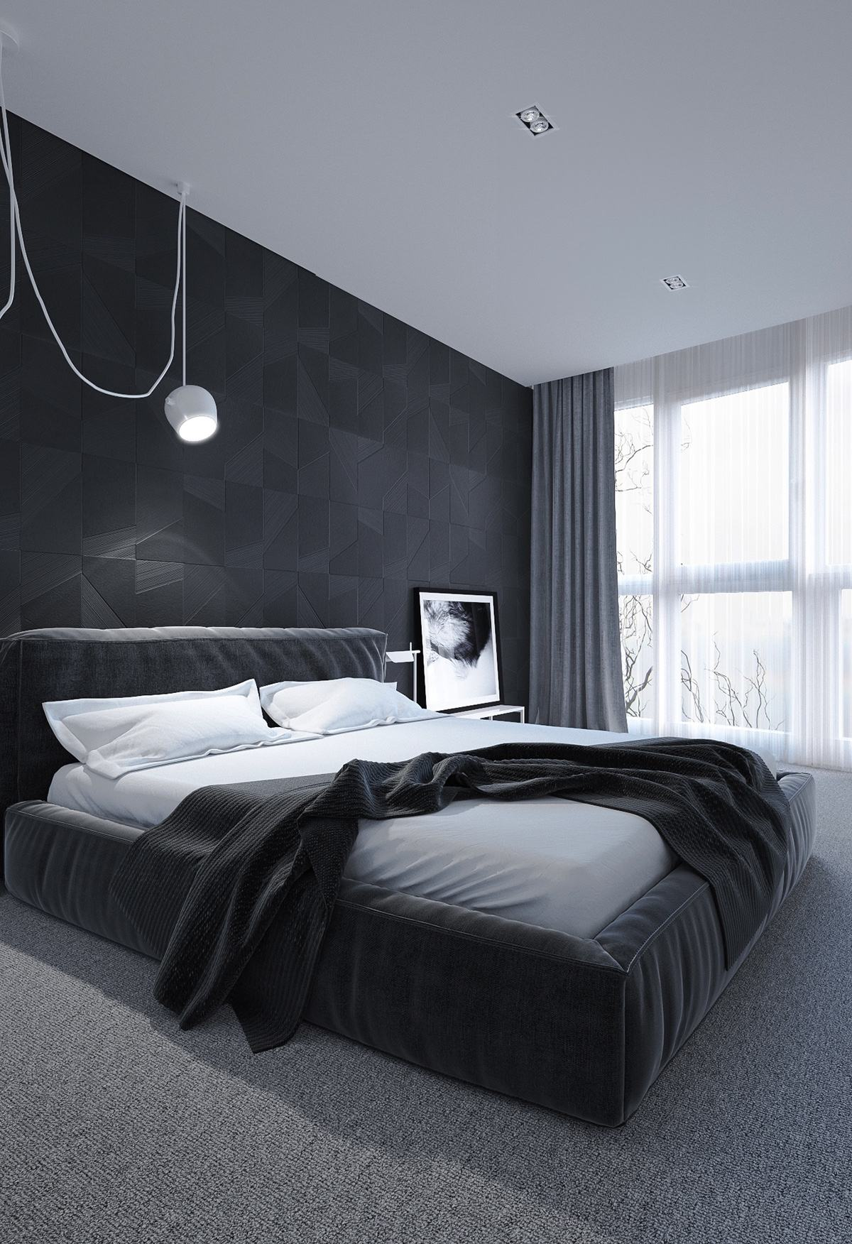 6 dark bedrooms designs to inspire sweet dreams. Black Bedroom Furniture Sets. Home Design Ideas