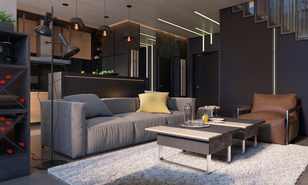 Brightening A Dark Decor Theme - 4 dark living rooms with strong personality
