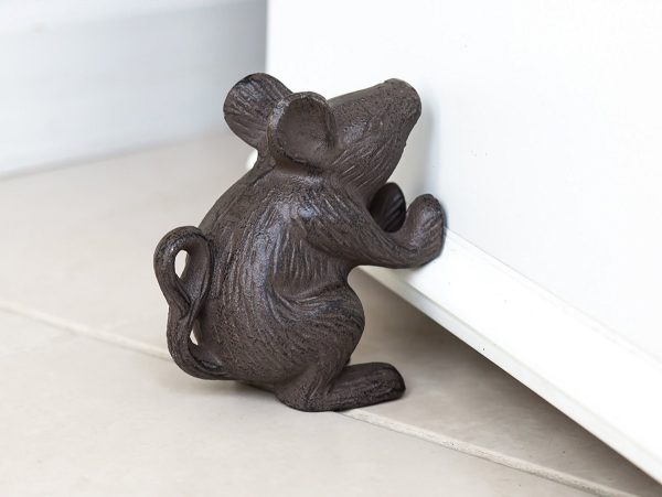 BUY IT · Cast Iron Mouse Door Stop: This Charming Mouse Sure Does Look  Strong Holding ...