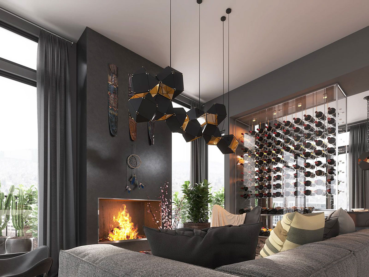 Creative Dark Interior Design - 4 dark living rooms with strong personality