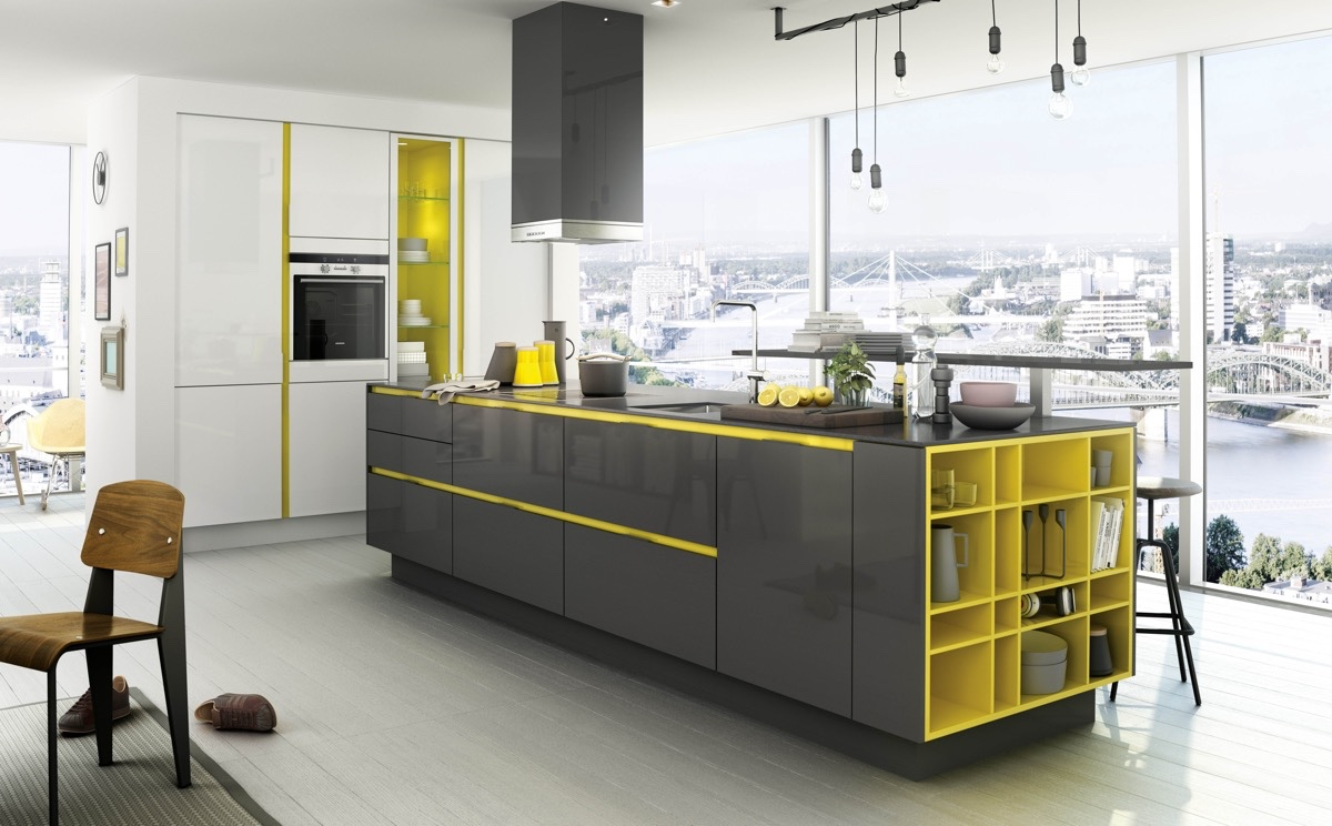 Creative Yellow And Black Kitchen - 22 yellow accent kitchens that really shine