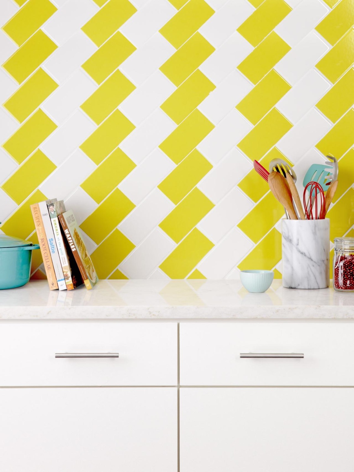 Creative Yellow Kitchen Tiles - 22 yellow accent kitchens that really shine