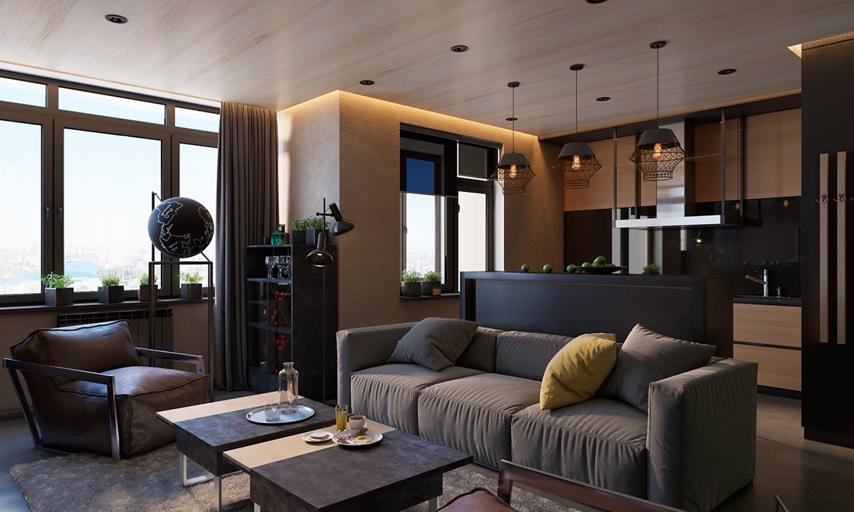 Dark Interior With Classic Feel - 4 dark living rooms with strong personality