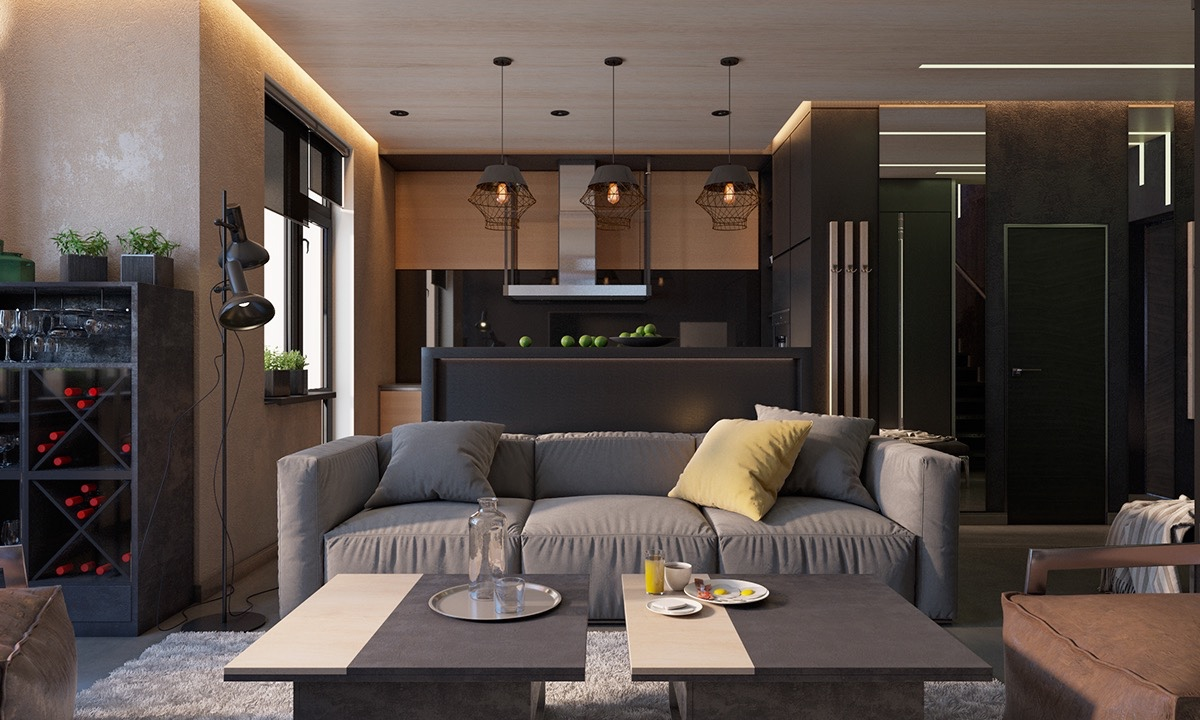Dark Modern Interior With Classic Influence - 4 dark living rooms with strong personality