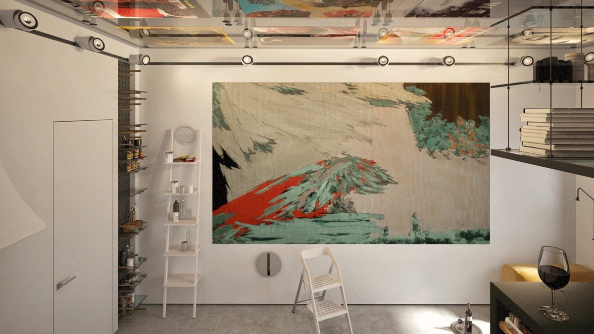 Displaying Large Artwork In A Tiny Apartment - 2 super tiny home designs under 30 square meters includes floor plans