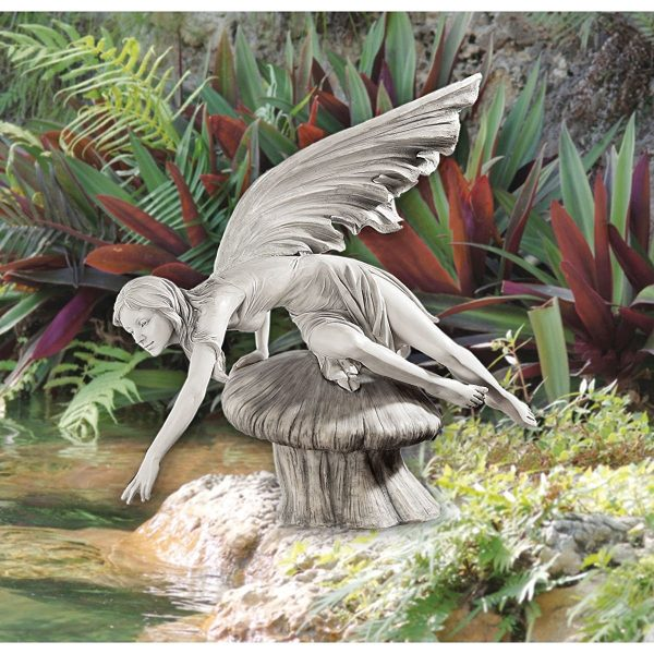 40 stunningly beautiful statues of fairies and angels for Reading fairy garden statue