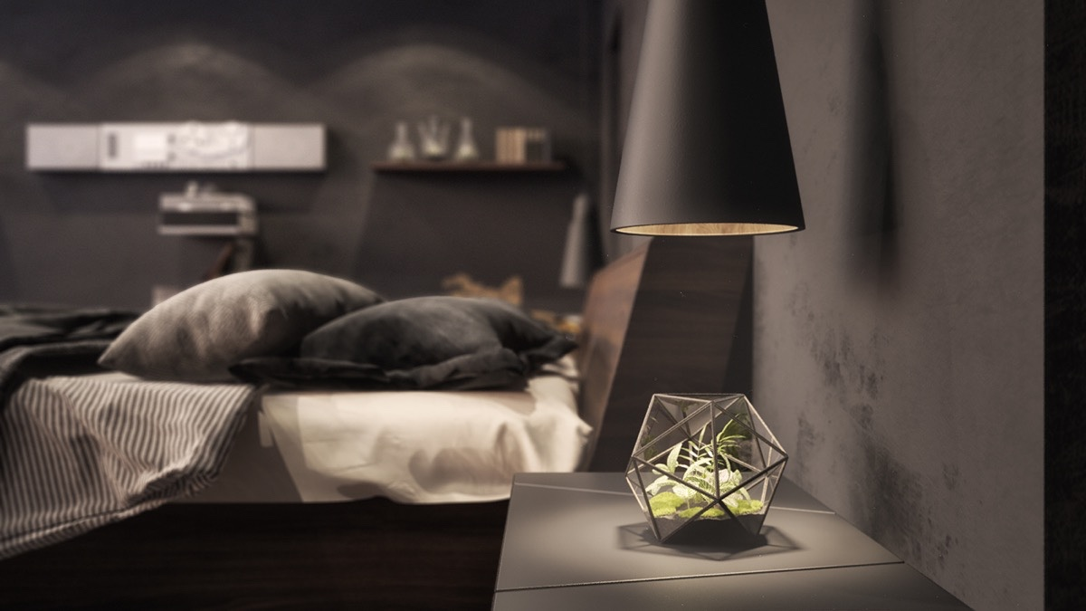 Dark Bedroom  dark bedroom How to Bring Inspiration Into Your Dreams With Dark Bedroom geometric decor in dark black bedroom