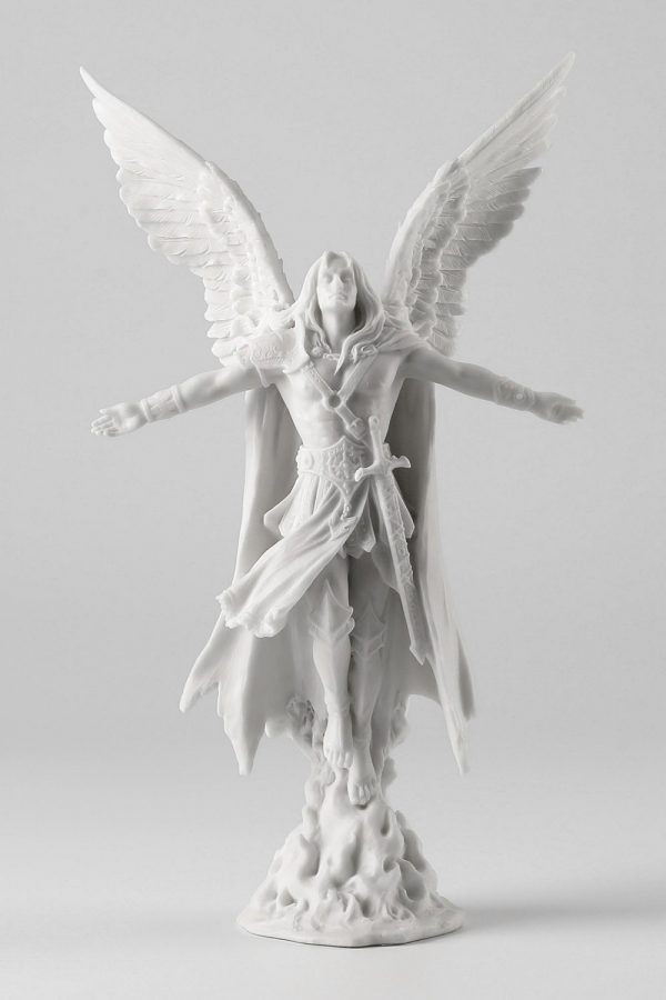 Ascending Male Angel: Let a little male presence into your faith with this ascending male angel, perfect for a chest of drawers or ornamental table.