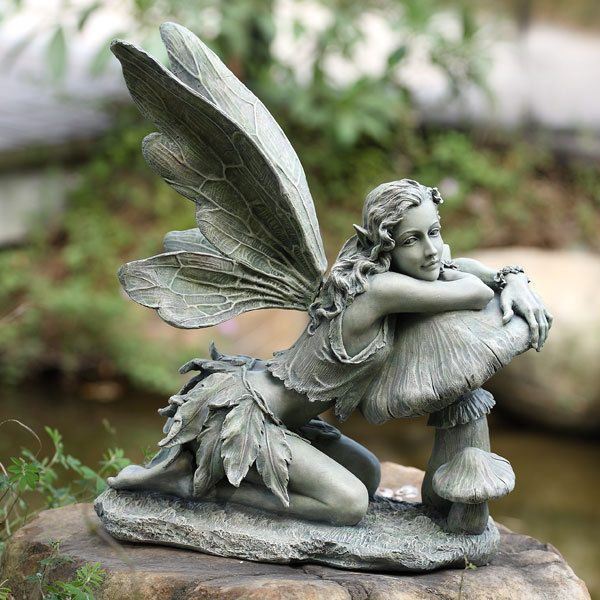 40 stunningly beautiful statues of fairies and angels for for Fairy garden figurines