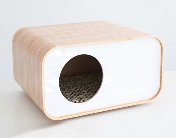 Super stylish cat houses furniture home essentials for for Minimalist house essentials