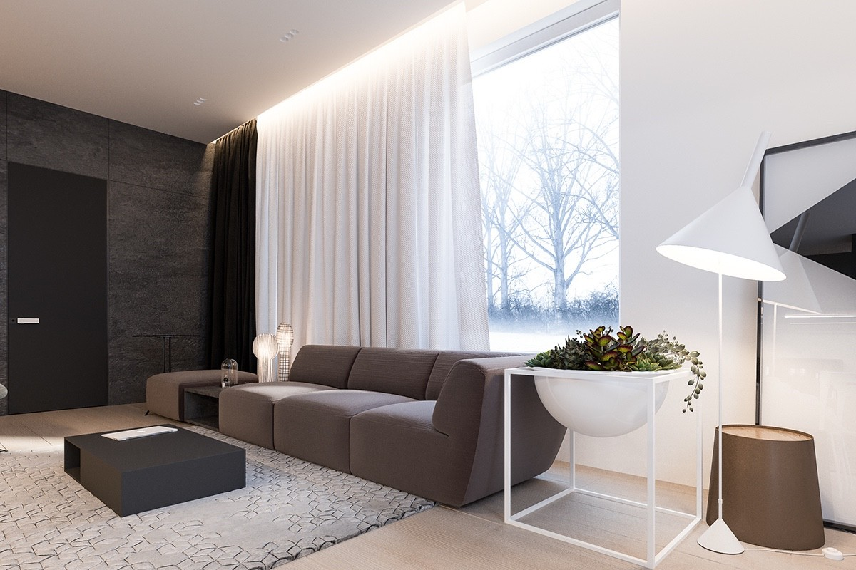 . A Minimalist Family Home With A Bright Bedroom For The Kids