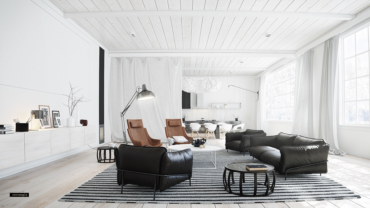Modern Bauhaus Inspired Living Room Decor - 30 living rooms that transcend design eras