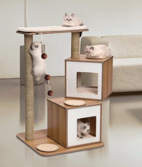 Super stylish cat houses furniture home essentials for the discerning cat lover - Modern cat tree ikea ...