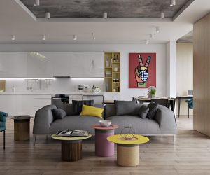 These Modern Living Rooms Incorporate Cross Era Design With