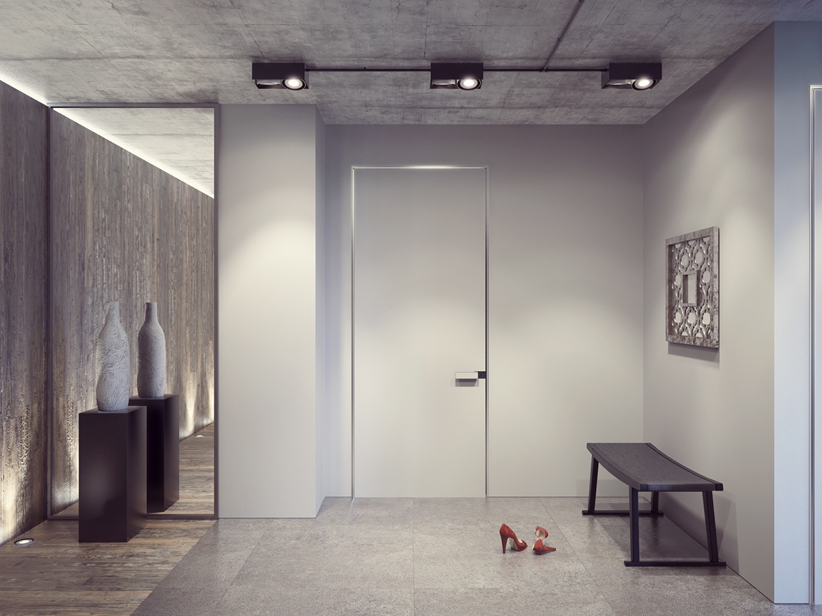 Simple Entryway Design - 4 dark living rooms with strong personality
