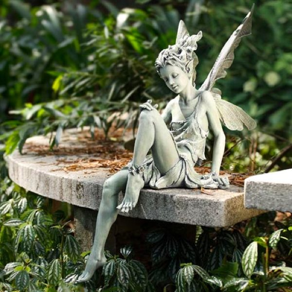 40 stunningly beautiful statues of fairies and angels for. Black Bedroom Furniture Sets. Home Design Ideas