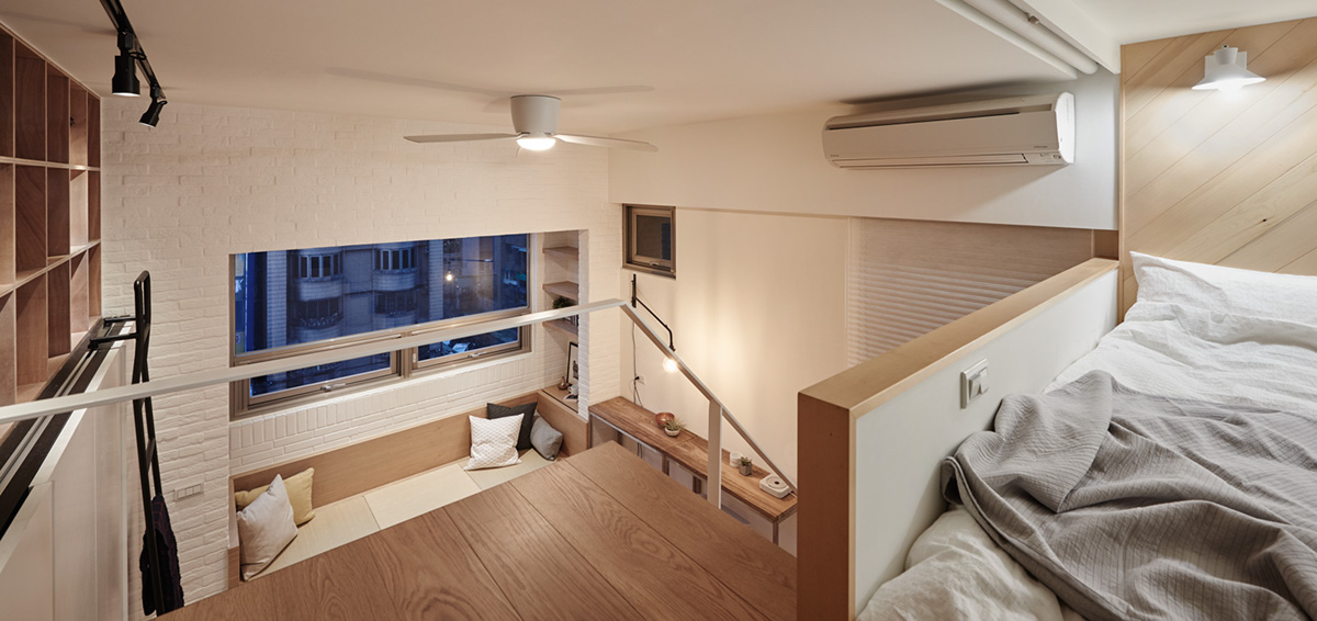 Small Lofted Bedroom Apartment - 2 super tiny home designs under 30 square meters includes floor plans