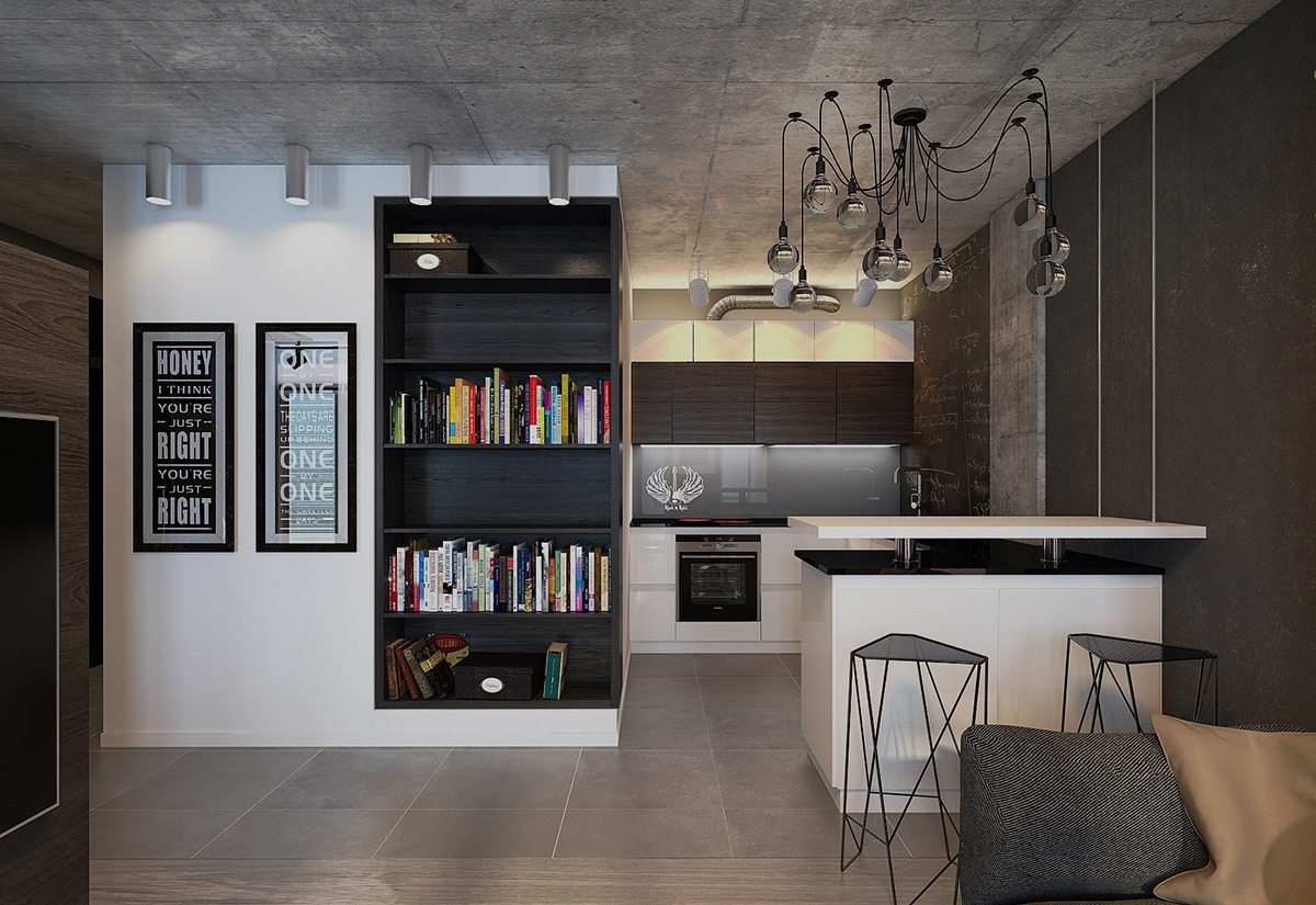 Sophisticated Studio Layout Decor Theme - 4 dark living rooms with strong personality
