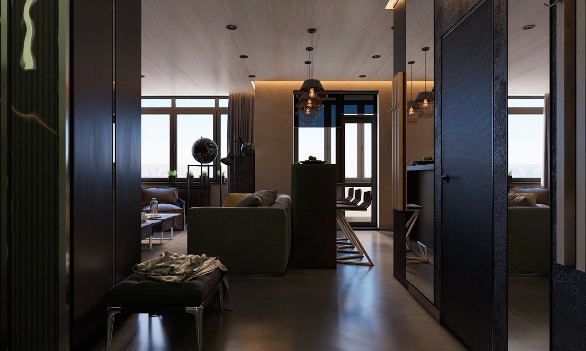 Stylish Dark Entryway Design - 4 dark living rooms with strong personality