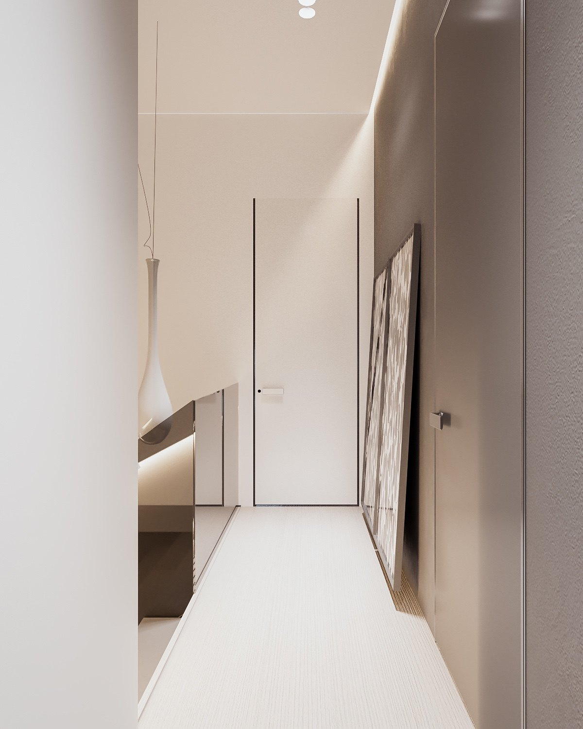 Stylish White Plywood Floors - A minimalist family home with a bright bedroom for the kids