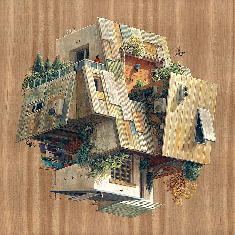 Surreal architectural illustrations by cinta vidal agull for Art architectural