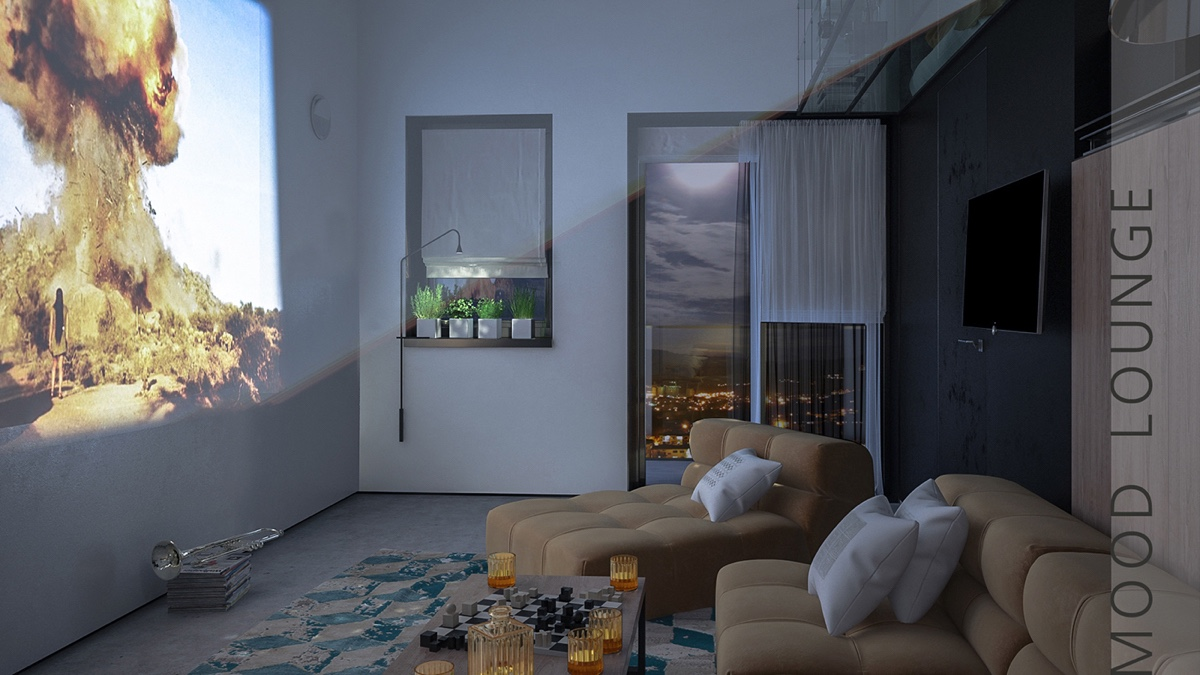 Tiny Apartment With Movie Projector - 2 super tiny home designs under 30 square meters includes floor plans