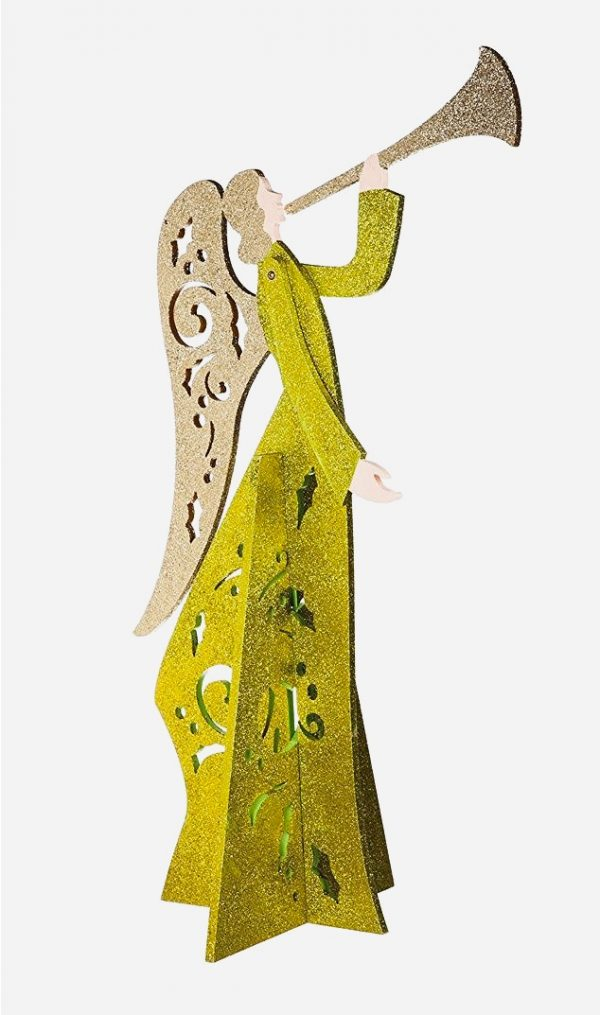 Songs Of Praise Modern Angel Statue:  Christmas is coming, and so are the angels. Perfect for your Christmas table or mantelpiece, this glittering creation can call all manner of good spirits.