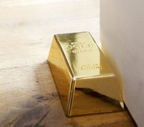 Fake Gold Bar Door Stop: Smart investments are crucial, and you know what they say about gold. This shiny gold-colored bar would make a great paperweight or gag gift in addition to serving as a perfectly workable doorstop.