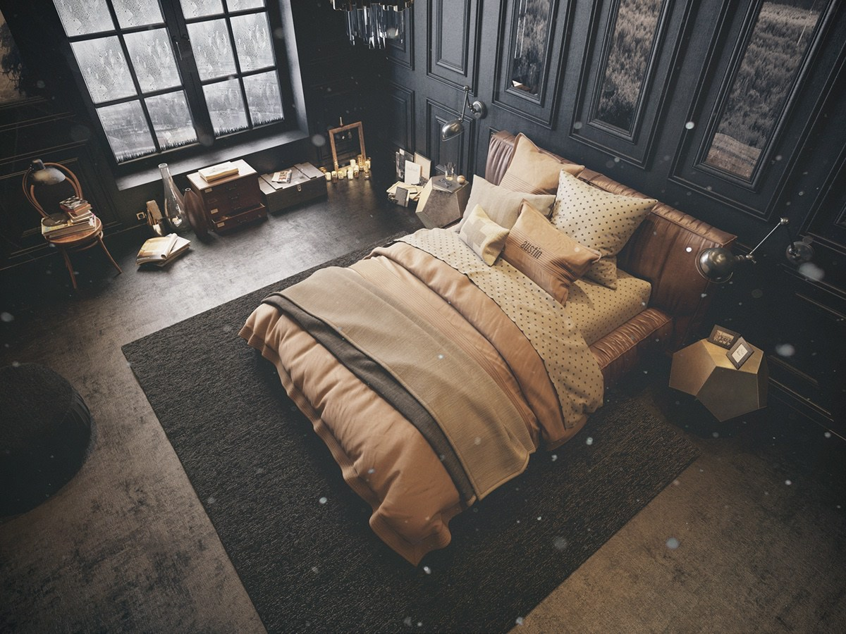 How to bring inspiration into your dreams with dark for Bedroom inspiration vintage