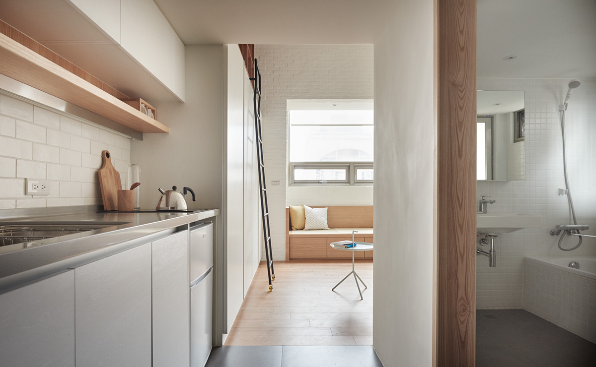 White And Wood Small Apartment Decor - 2 super tiny home designs under 30 square meters includes floor plans