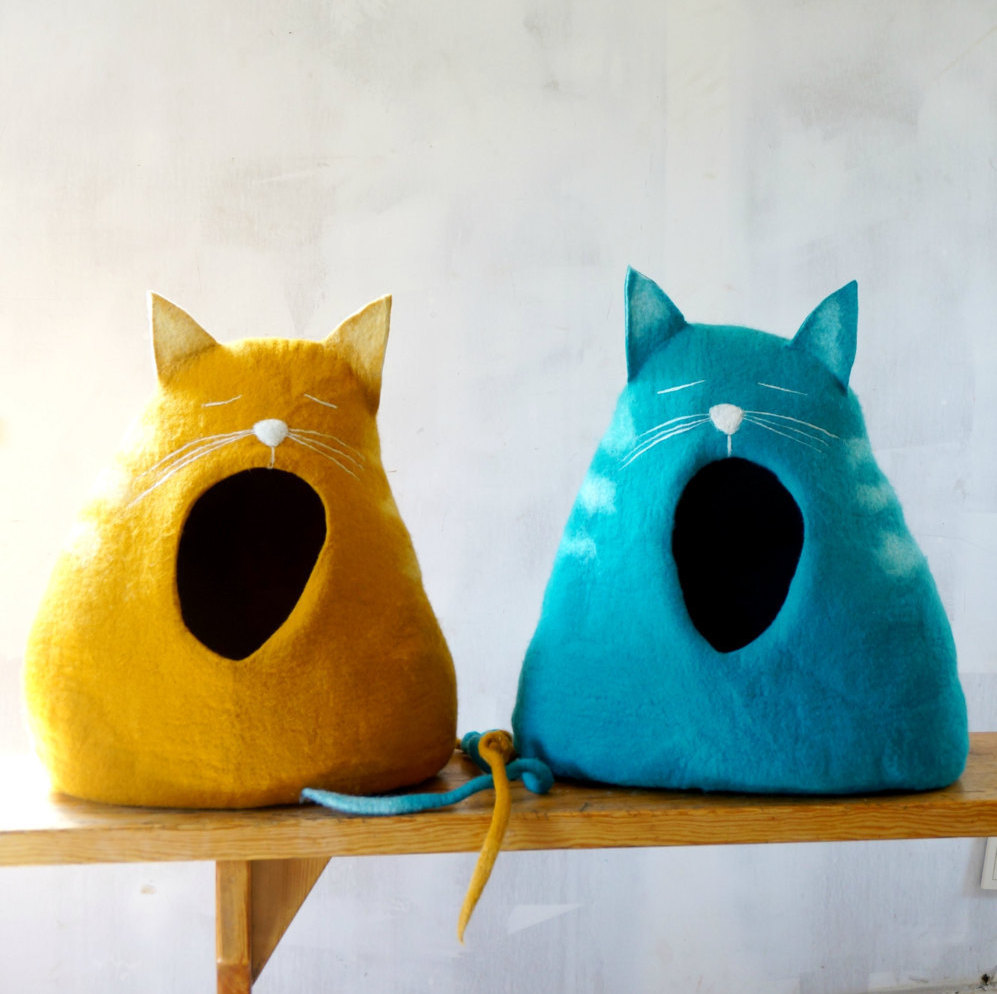 yawning cat cat bed cute quirky great for the kids Super Stylish Cat Houses, Furniture & Home Essentials For The Discerning Cat Lover