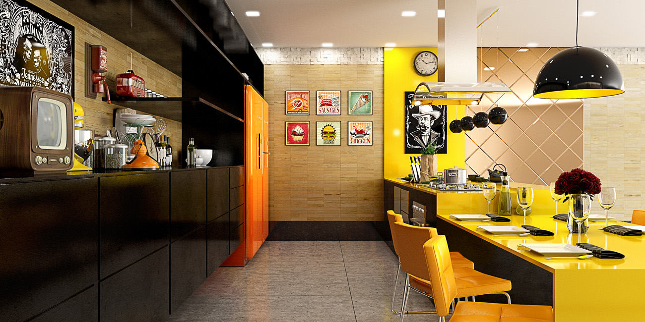 Yellow And Orange Kitchen Color Palette - 22 yellow accent kitchens that really shine