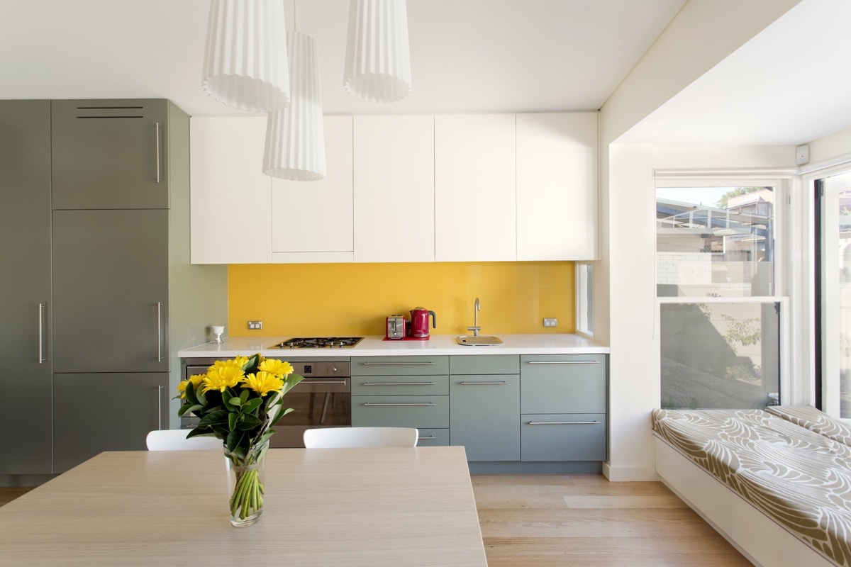 Yellow Kitchen Backsplash - 22 yellow accent kitchens that really shine